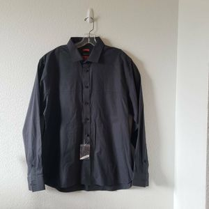 Kenneth Cole Mens Button Up Shirt Gray  XL New